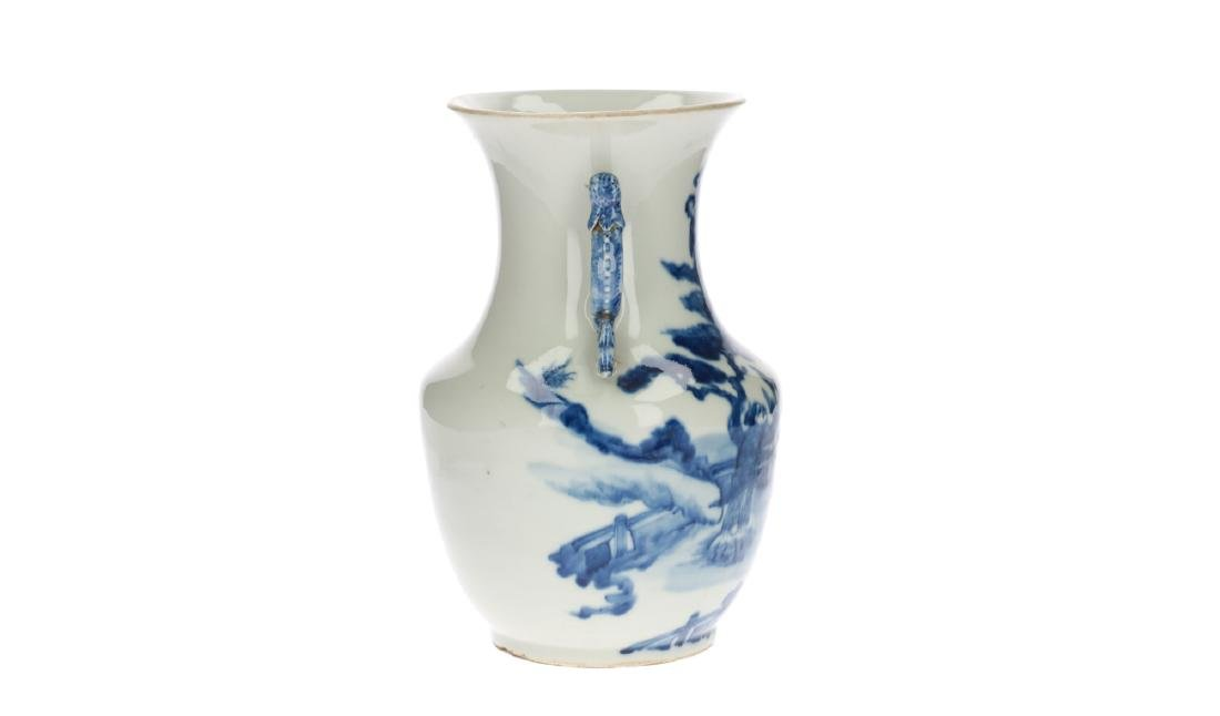 A blue and white porcelain vase, decorated with - 3