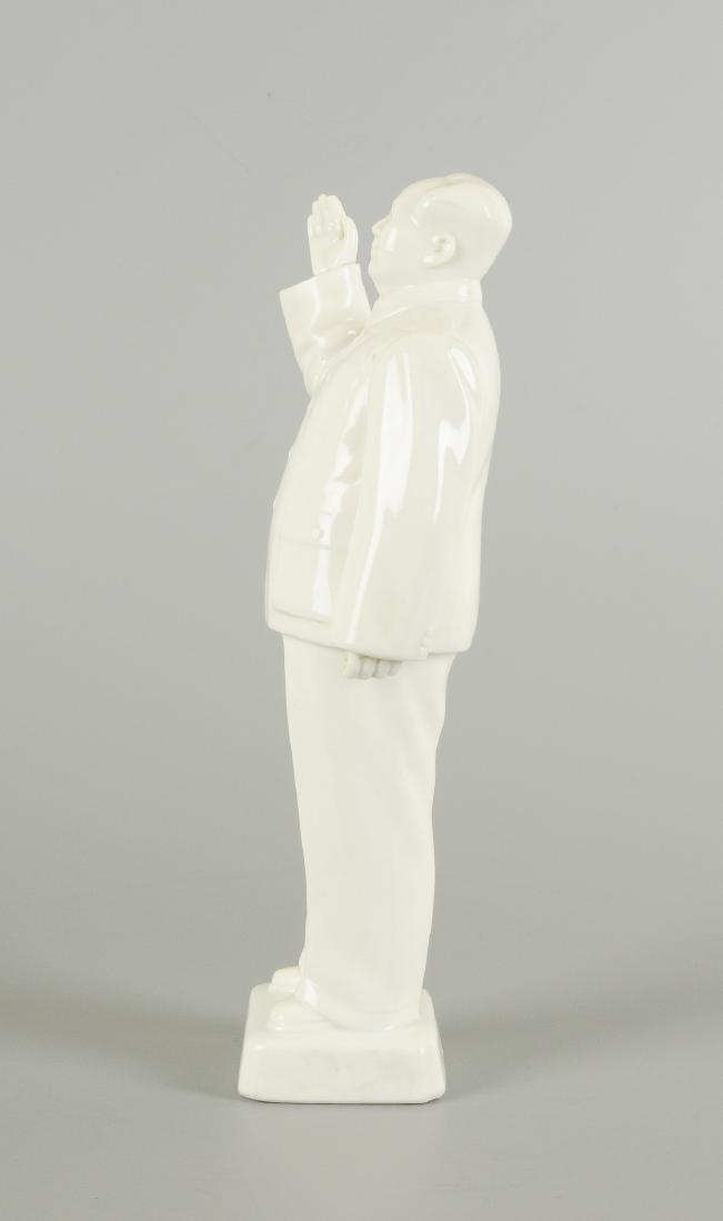 A Blanc-de-Chine porcelain statue of Mao Zedong. - 3