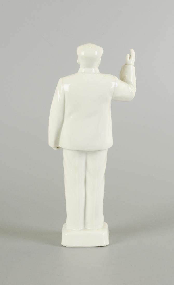 A Blanc-de-Chine porcelain statue of Mao Zedong. - 4