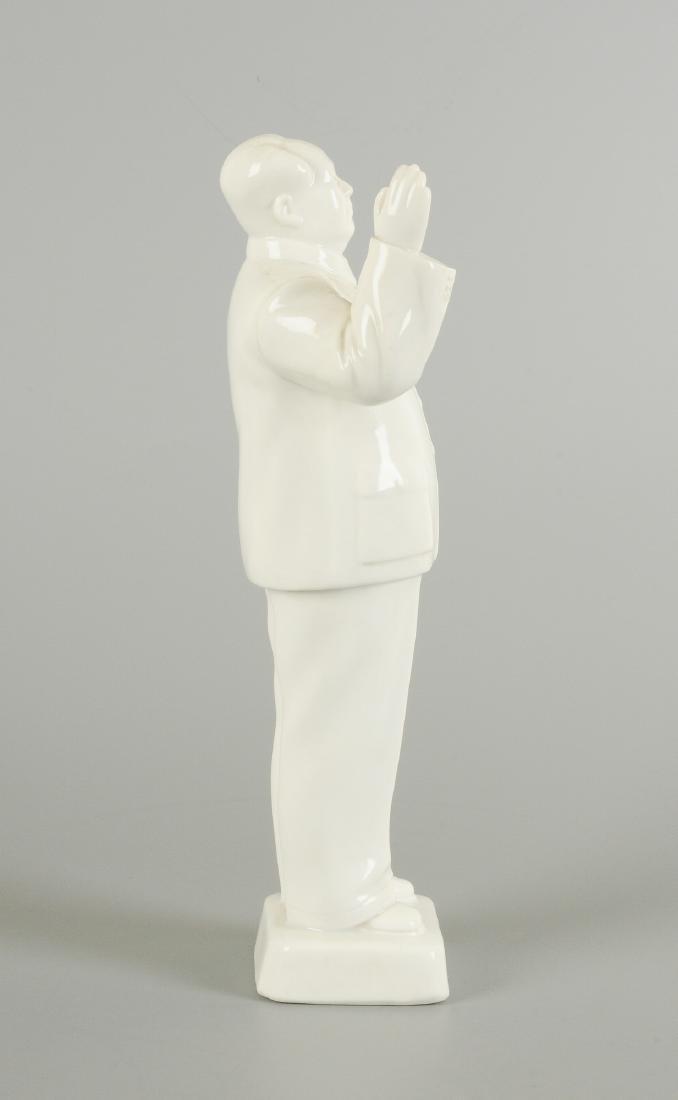 A Blanc-de-Chine porcelain statue of Mao Zedong. - 5