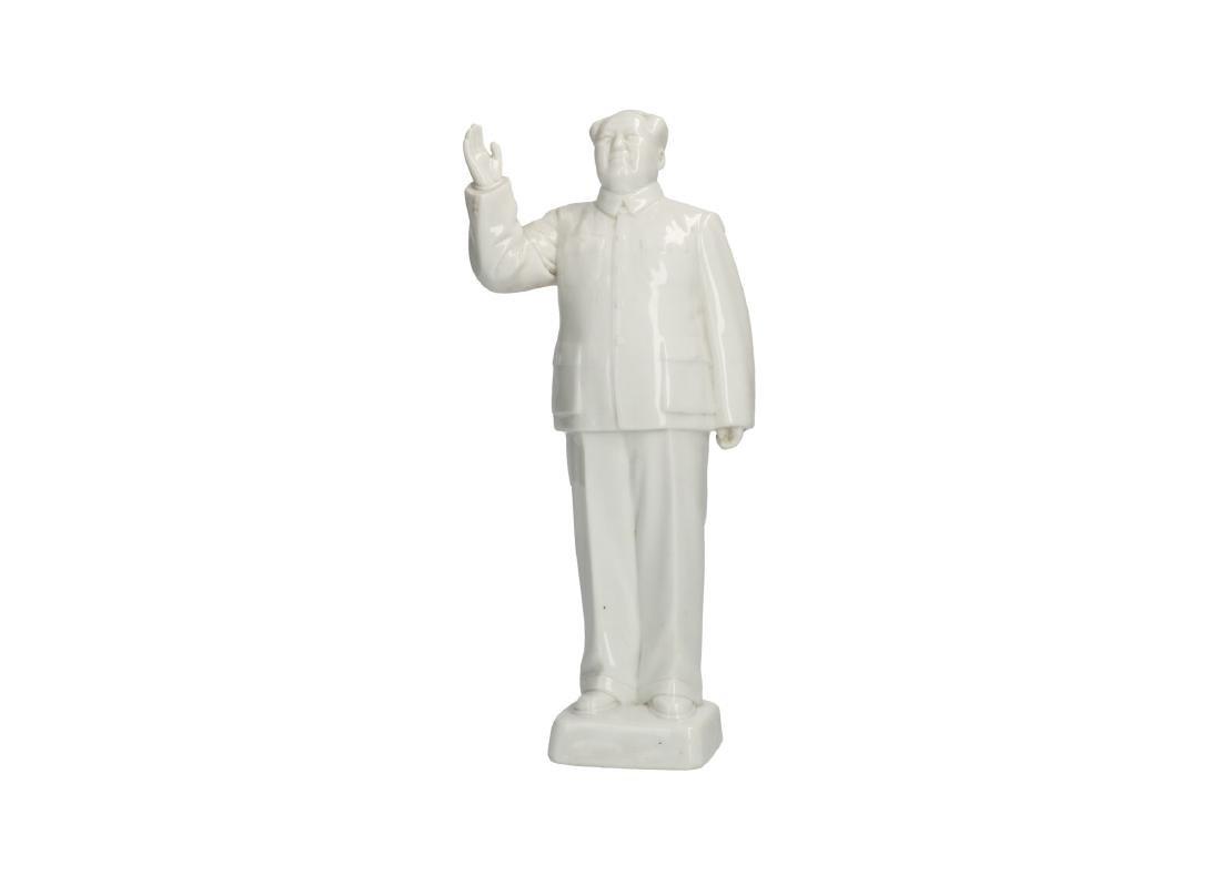 A Blanc-de-Chine porcelain statue of Mao Zedong. - 6