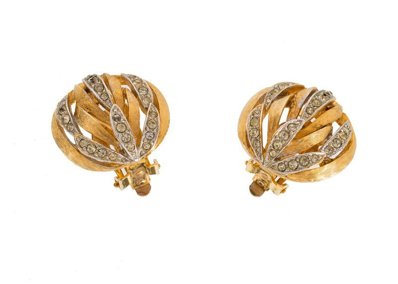 An Anonymous, lot of three; 1)/ Goldtone pair of