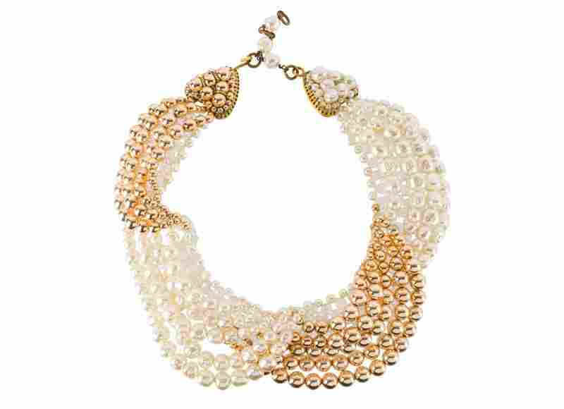 A Coppola e Toppo goldtone necklace, set with faux