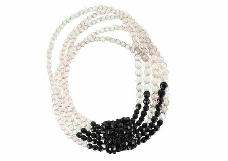 A Coppola e Toppo black and transparent necklace set