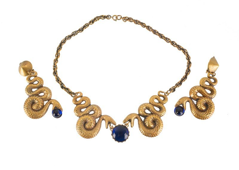 A Joseff Hollywood goldtone necklace and pair of - 2