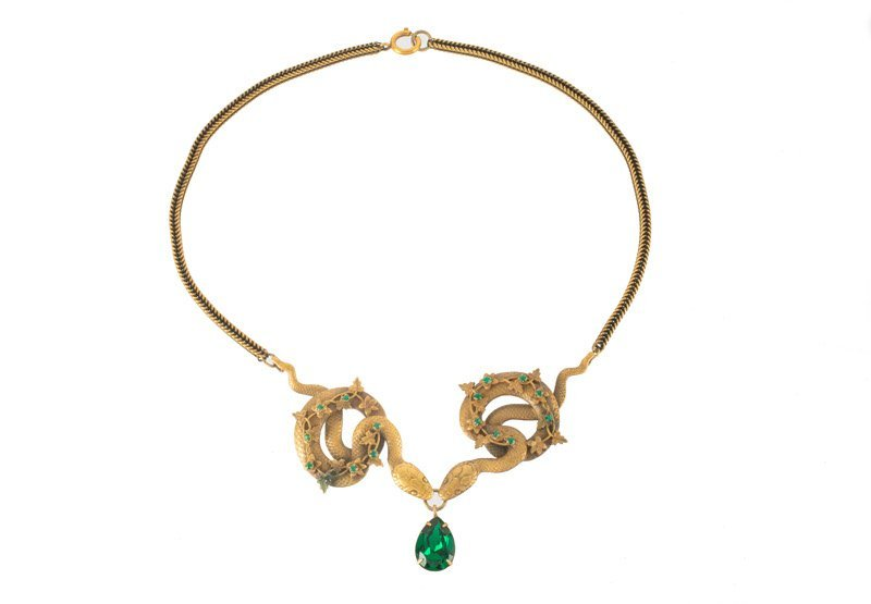 A Joseff Hollywood goldtone necklace and pair of - 3
