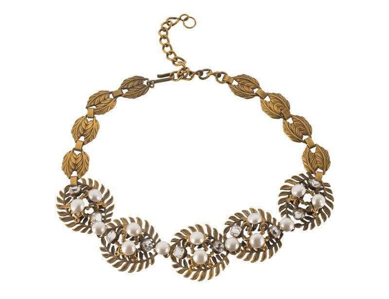 A Joseff Hollywood goldtone necklace, set with faux