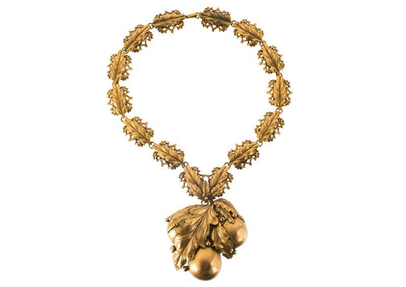 A Joseff Hollywood goldtone necklace with