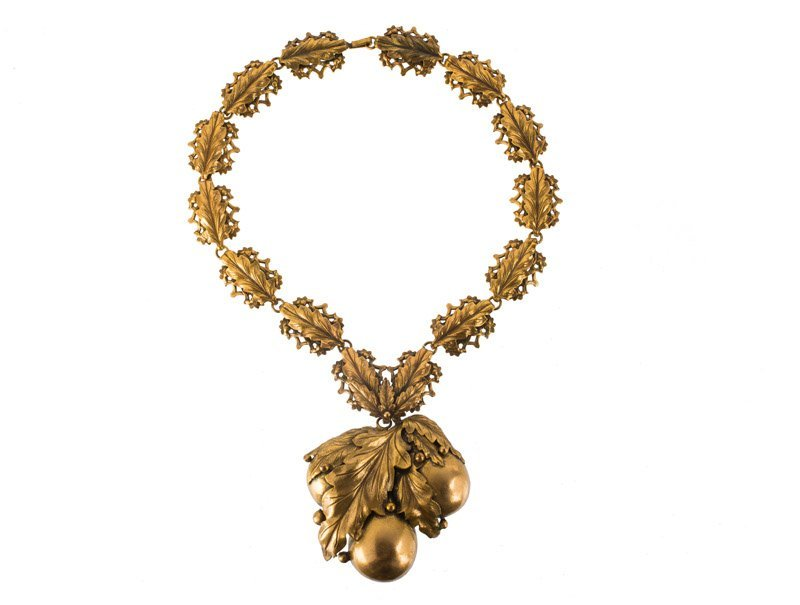 A Joseff Hollywood goldtone necklace with - 2