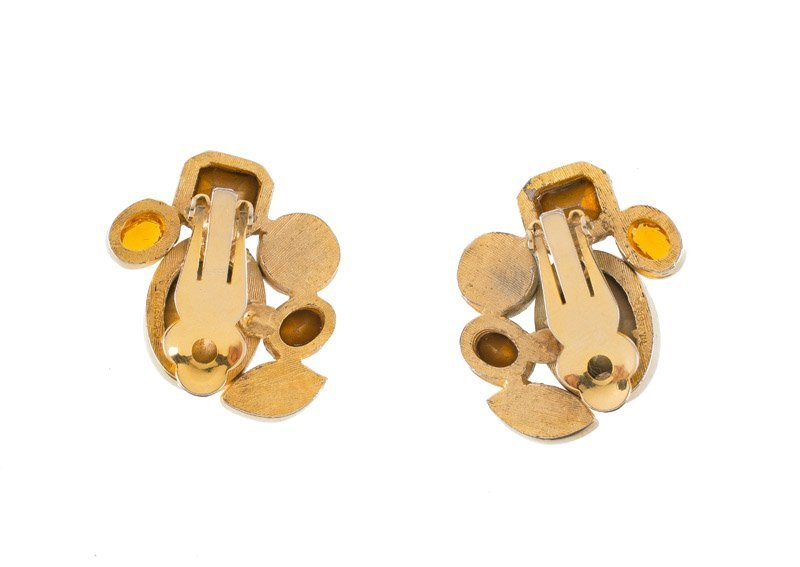 Kara Maresca pair of earclips, set with multicolor - 2