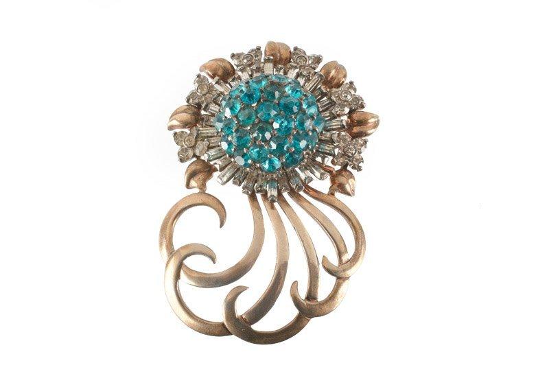 A Pennino sterling brooch in flower shape with curls,
