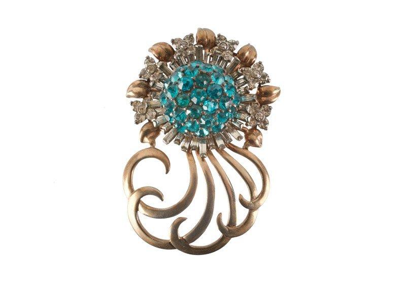 A Pennino sterling brooch in flower shape with curls, - 2