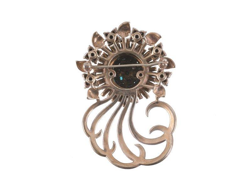 A Pennino sterling brooch in flower shape with curls, - 5
