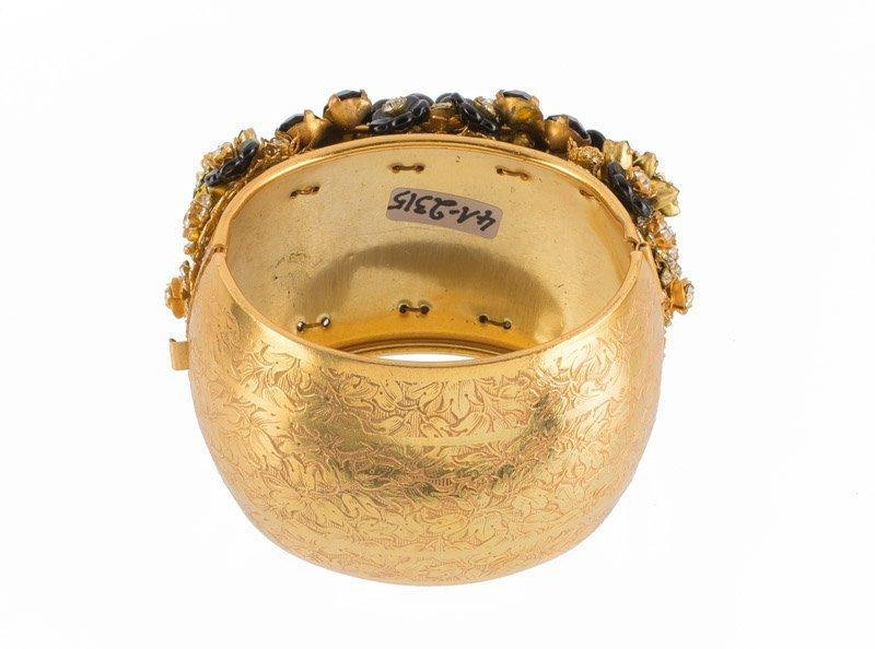 A Stanley Hagler cuff bracelet, set with black stones - 2
