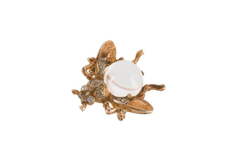 A Trifari 'Jelly belly' sterling brooch depicting a