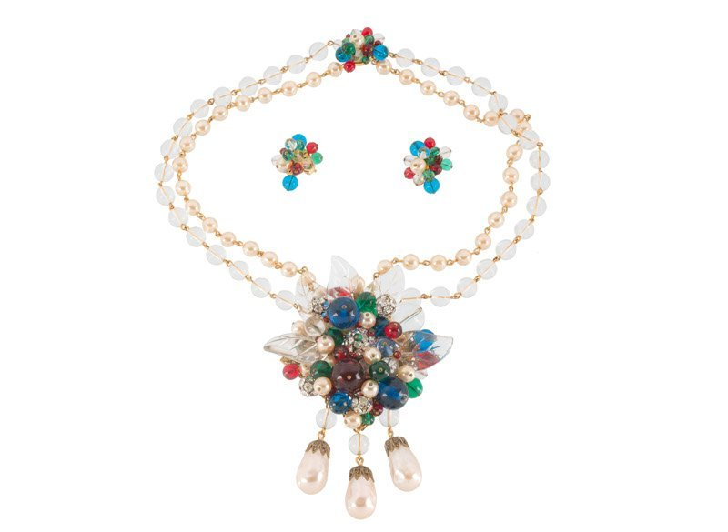 A William de Lillo (attributed to) necklace and pair of
