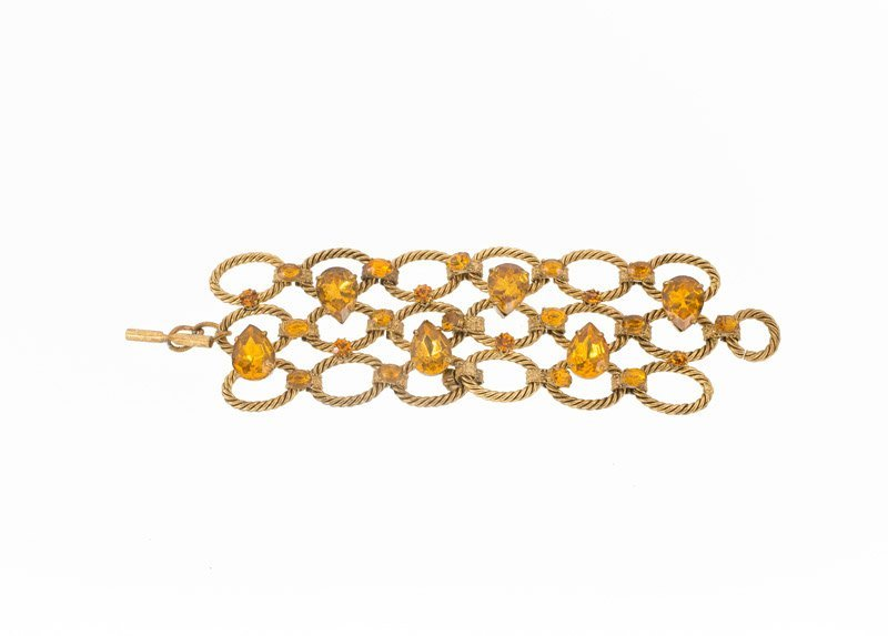 An Yves Saint Laurent (attributed to) goldtone link