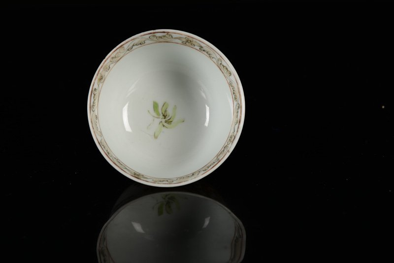 A Famille Rose Chine de commande cup and saucer, - 3