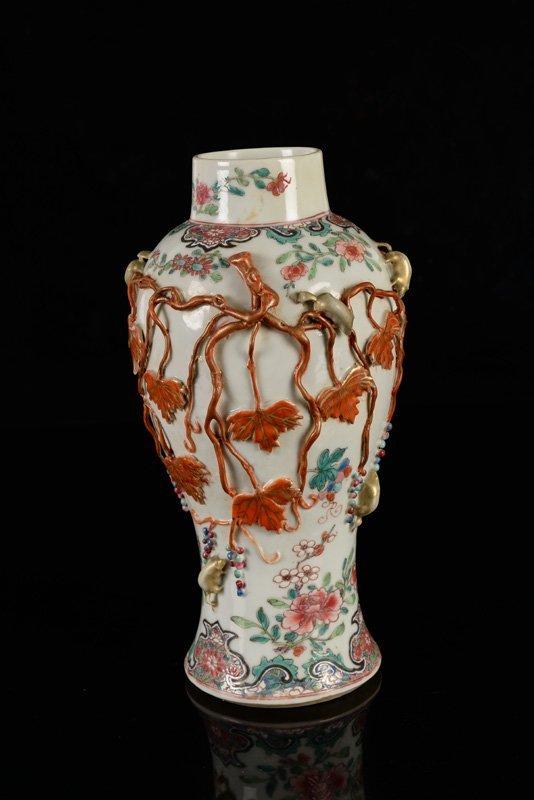 A Famille Rose porcelain vase. China, Qianlong. 18th - 2