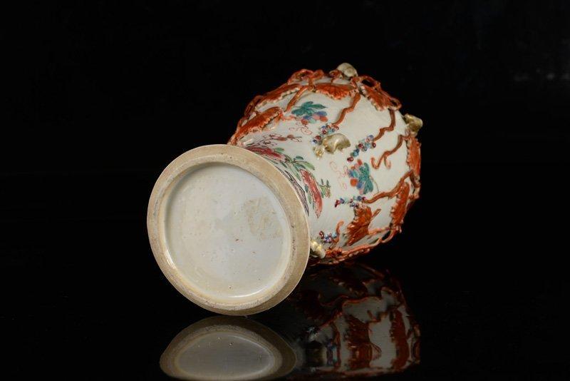 A Famille Rose porcelain vase. China, Qianlong. 18th - 3