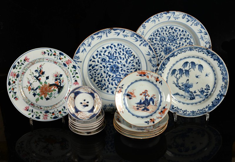 A various lot of ca. 15 porcelain items incl. plates