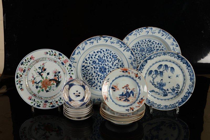 A various lot of ca. 15 porcelain items incl. plates - 2