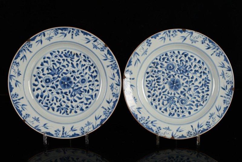 A various lot of ca. 15 porcelain items incl. plates - 3