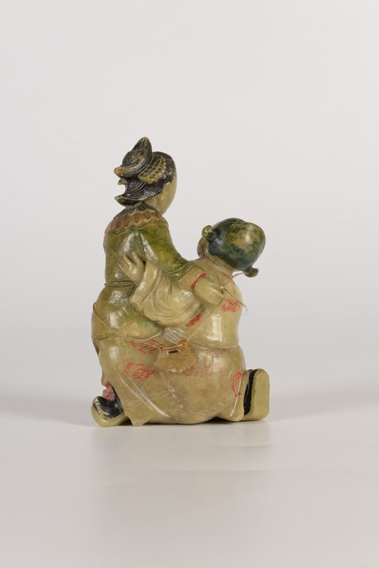 A soapstone sculpture of two court ladies. China, ca. - 2