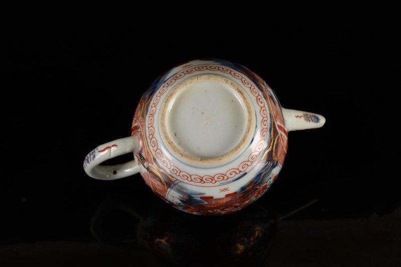 An 'Amsterdams Bont' porcelain teapot. China, 18th - 4