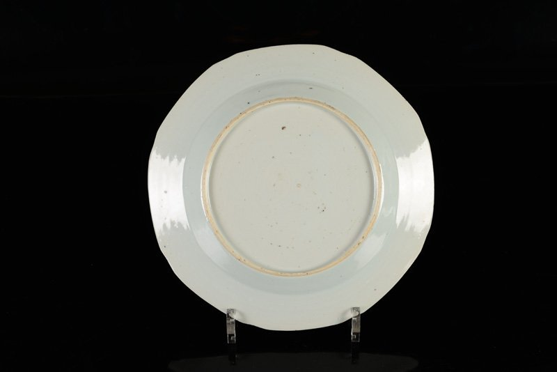 A lot of seven blue and white porcelain plates. China, - 5