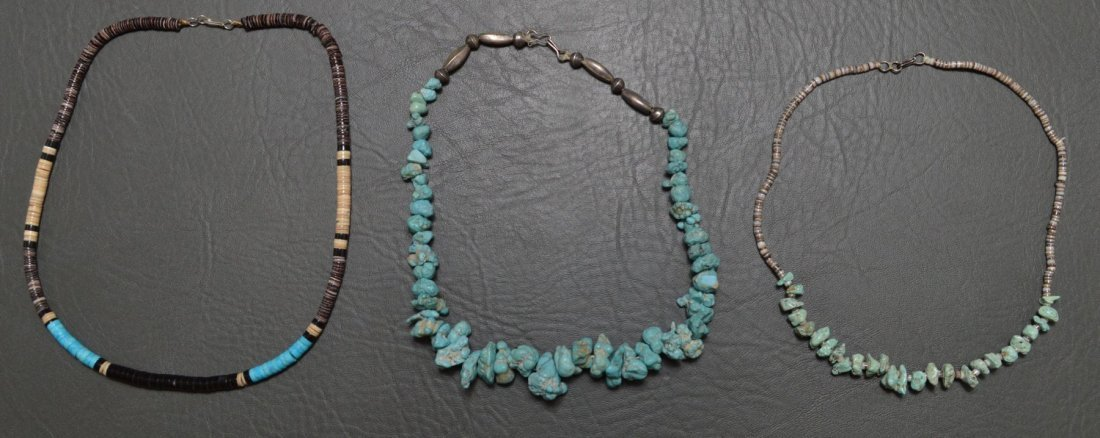 THREE PUEBLO CHOCKER/NECKLACE'S