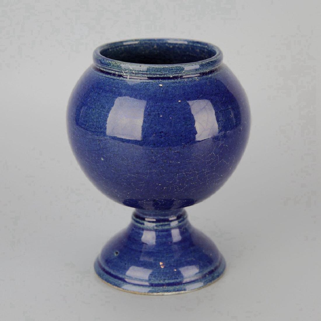 Chinese Cobalt Crackle Porcelain Vase