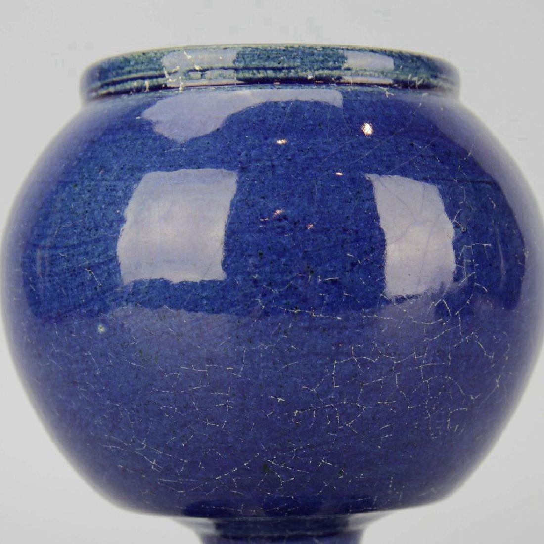 Chinese Cobalt Crackle Porcelain Vase - 2
