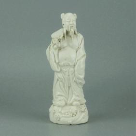 Chinese Blanc de Chine White Glazed Porcelain Figure