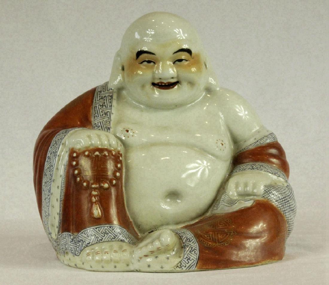 Large Chinese Porcelain Figure of Buddha