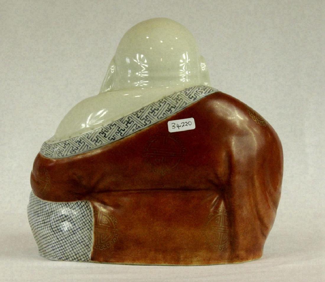 Large Chinese Porcelain Figure of Buddha - 2