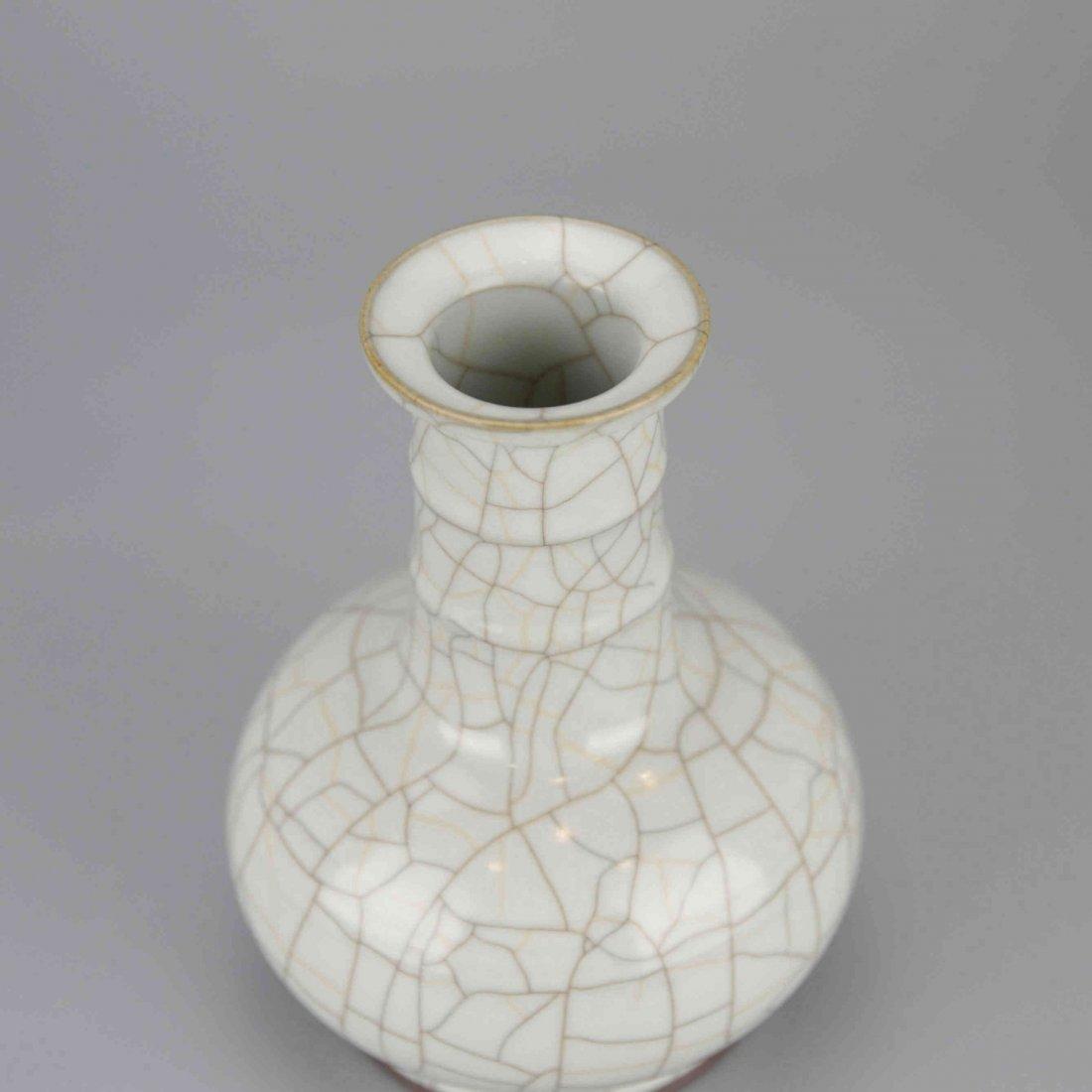 Chinese Celadon Crackle Porcelain Vase - 2