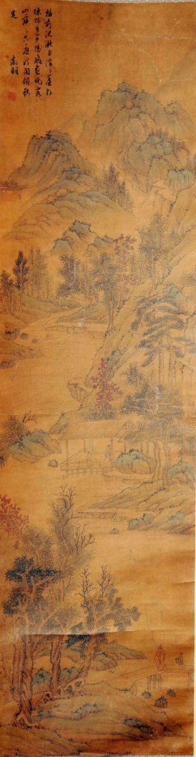 Chinese  Scroll Painting  Attributed to Wen Zhengming