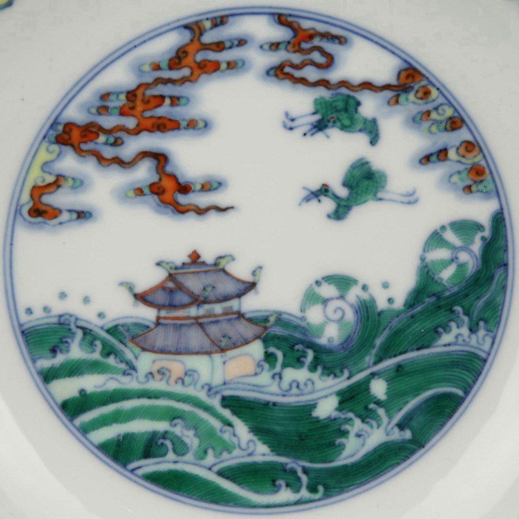 Chinese Doucai Porcelain Dish - 2