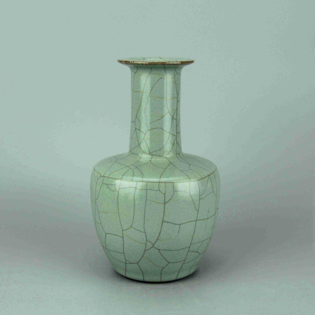 Chinese Crackle Celadon Glaze Porcelain Vase