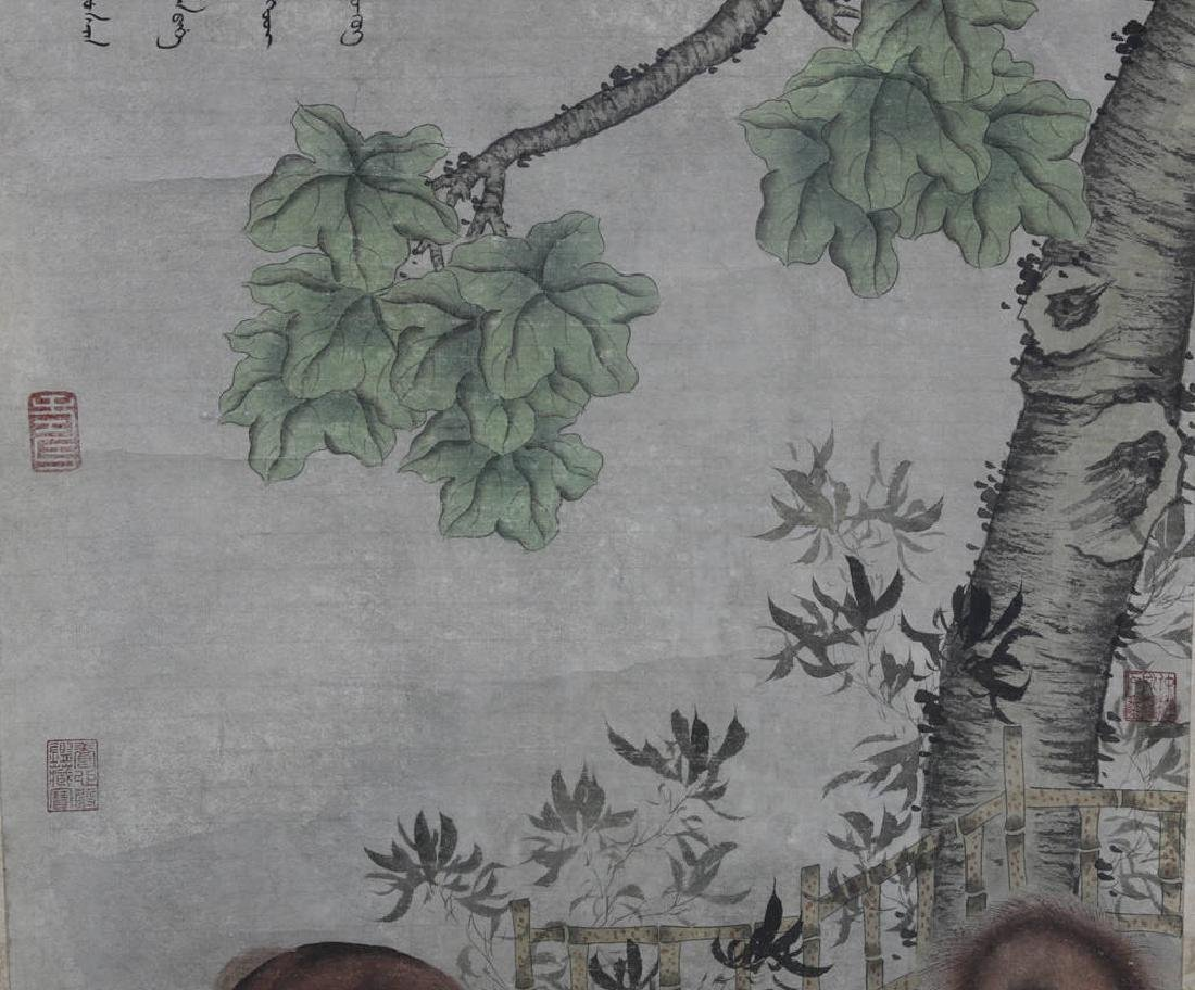 Chinese Scroll Painting Attributed to Lang Shining - 3