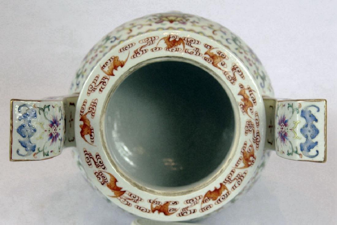 Chinese Tripod Porcelain Censer - 4