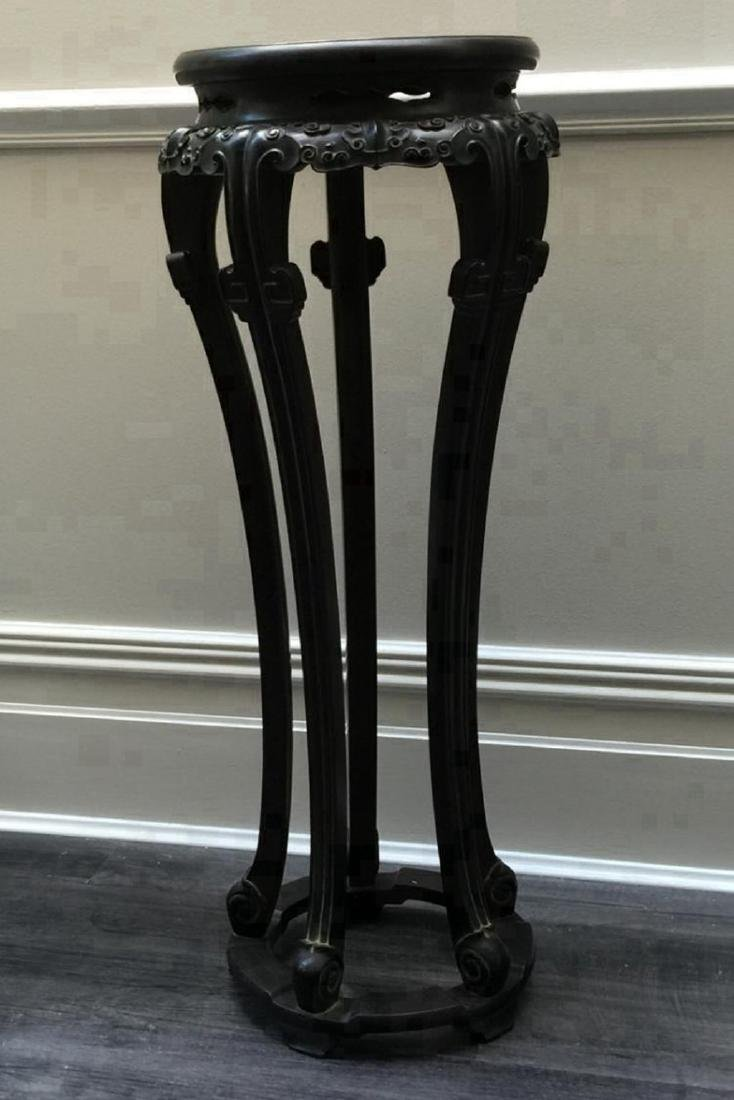 Pair of Antique Chinese Zitan Pot Stands - 3