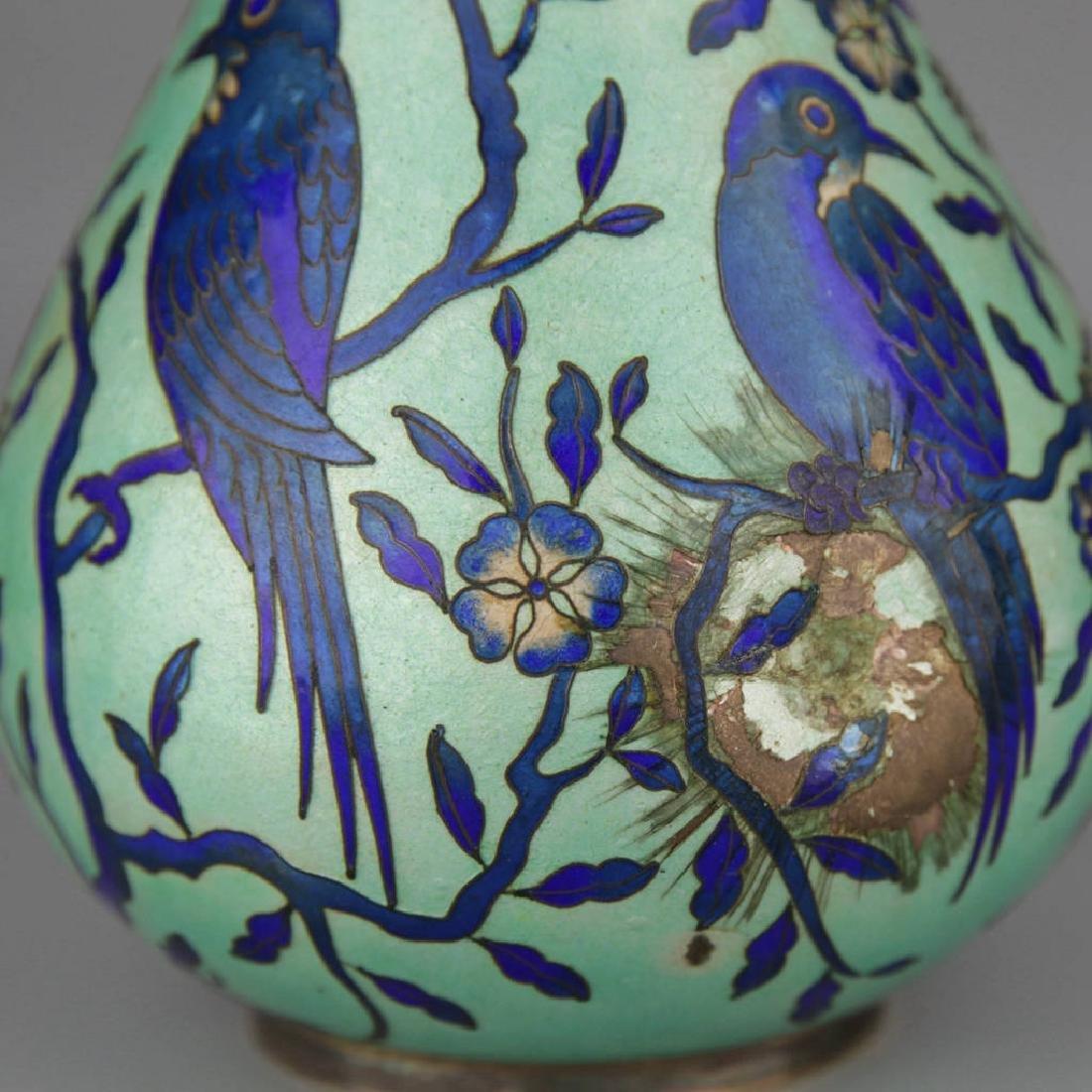 A cloisonne enamel Yuhuchun Vase - 3