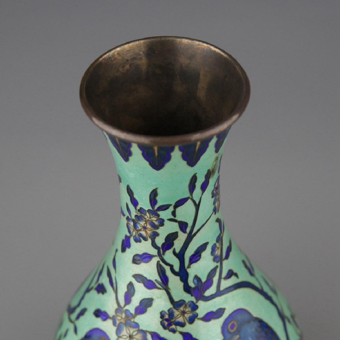 A cloisonne enamel Yuhuchun Vase - 6