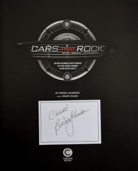 AC/DC - Cars That Rock, hardback book signed to the