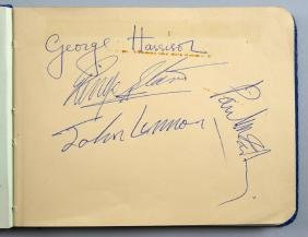 Autographs - The Beatles, a full set of signatures of