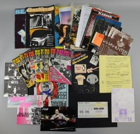 Music Memorabilia - 65+ items, Michael Jackson ticket