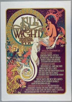 Isle of White Festival 2008 concert poster featuring