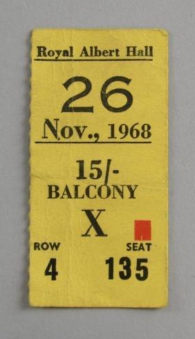 Cream - Original concert ticket for their farewell tour